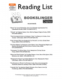 Bookslinger Short Story Reading List PDF